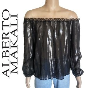 Alberto Makali Convertible Off The Shoulder Blouse